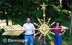 10 Foot Metropolitan Arrow in 23k Gold leaf by Al Denninger