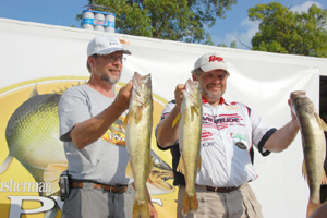 Al & Bill Ortiz hold up a few of the Walleye we caught during the 2008 PWT