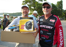 I fished Day 1 of the 2008 PWT with Jim Muzynowski