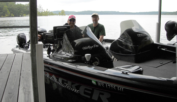 Keith Kavayecz asked me to pre-fish with him 2 days when he was here on Bull Shoals Lake in 2008
