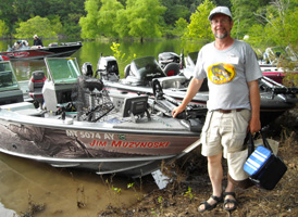 Al Fished with Jim Muzynoski on the first day of the Bull Shoals Open PWT in June 20008