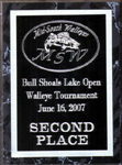 Second Place MSW Bull Shoals Lake Open Walleye Tournament June 2007