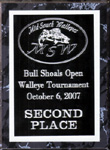 Second Place MSW Bull Shoals Lake Open Walleye Tournament October 2007
