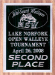 Second Place MSW Norfork Lake Open Walleye Tournament April 2008