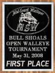 First Place MSW Bull Shoals Lake Open Walleye Tournament May 2008