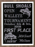 First Place MSW Bull Shoals Lake Open Walleye Tournament October 2008