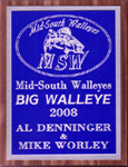 MSW Big Walleye for the Year 2008